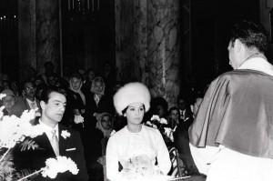 Walter e Moira nel giorno delle nozze