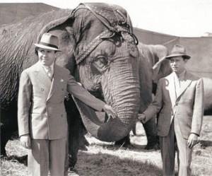 Due figure storiche del circo americano: John Ringling North e Henry North