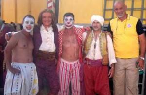 Massimo Ranieri sul set del film dedicato a Franconi