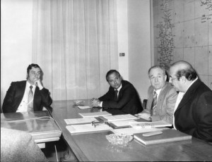 Walter Nones con Enis Togni, Palmiri e Franco Bruno ad una riunione all'Agis di Roma.