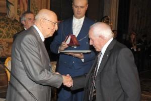 Egidio Palmiri premiato dal presidente della Repubblica Giorgio Napolitano