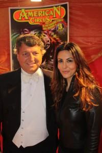 Flavio Togni con Sabrina Ferilli all'American Circus