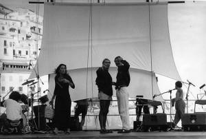 Alessandro Kokocinski con Lina Sastri nella compagnia teatrale Kosa