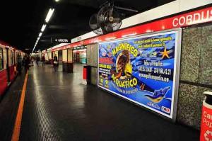 La pubblicità nella metropolitana di Milano