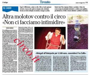 L'articolo pubblicato oggi da L'Adige