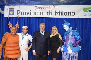 il presidente della Provincia di Milano con Heidi Faggioni