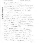 La prima pagina della lettera autografa