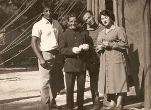 Da sinistra: Enis Togni, Nené Huesca, Nani Colombaioni e Ilvana Miletti (foto famiglia Enis Togni)