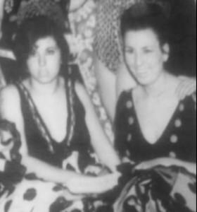 Adele Rossi (a destra) in una foto giovanile gentilmente inviataci da Davide Padovan