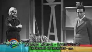 Alberto Manzi e Liana Orfei