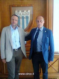 Il sindaco di Verona, Flavio Tosi, e il presidente dell'Ente Nazionale Circhi, Antonio Buccioni, si sono incontrati oggi per un pranzo di lavoro al Circolo Canottieri Lazio
