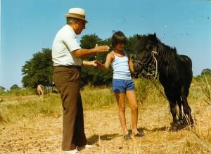 Ferdinando Togni e Cristina con l'amico Pony
