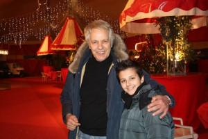 Giuliano Gemma con Davio Togni Anceschi al circo Americano lo scorso gennaio (foto archivio Silvana Togni)
