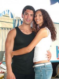 Ivan Pellegrini con la sorella Desiré