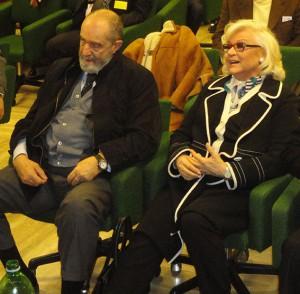 Liana Orfei insieme a Paolo Pristipino alla assemblea generale dell'Ente Nazionale Circhi