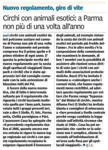 L'articolo pubblicato oggi dalla Gazzetta di Parma
