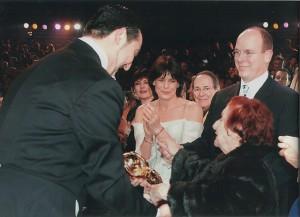 Alla premiazione (2007) al Festival di Monte Carlo