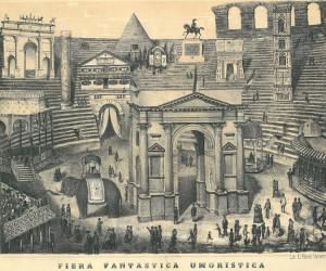 Una litografia sulla Fiera Fantastica Umoristica di Verona