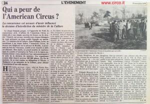 Ugo Nietzsch conserva buona parte della voluminosa rassegna stampa dell'American Circus, compresi i ritagli stampa che pubblichiamo