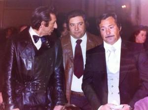 Benito Larible con Eugenio Larible e Gualberto Niemen