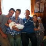 Benito Larible con alcuni componenti della sua amatissima famiglia