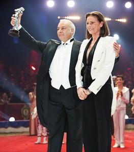 Vinicio con la principessa Stephanie (foto Monte Carlo Festival)