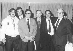 Sergio Casu in una foto di diversi anni fa fra Antonio Buccioni e Armando Bellucci