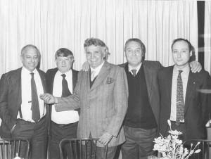 In questa foto Orlando Orfei è insieme a Enis Togni, Leandro Errani, Claudio Carbonari e Antonio Buccioni