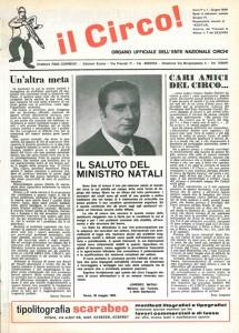 Il primo numero della rivista Circo