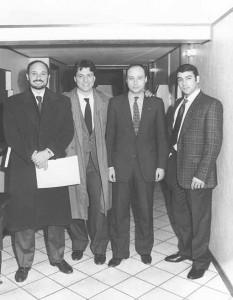 Livio Togni, Flavio Togni, Antonio Buccioni e Vinicio Canestrelli Togni