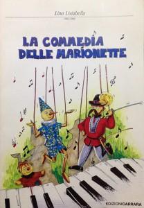 La copertina de La Commedia delle Marionette, di Freida Suffar, (Edizioni Musicali Carrara, 2004), illustrato con quadri di Dino Gaio