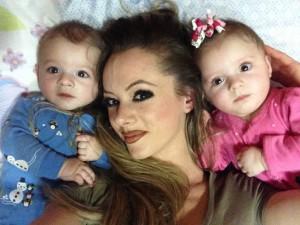 Roberta Bellucci con i due figli