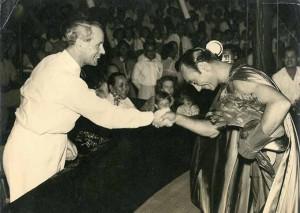 Amedeo col governatore di Singapore