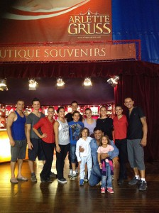 Con i trapezisti di Arlette Gruss