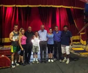 Walter Veltroni al circo di Darix Martini a Pesaro
