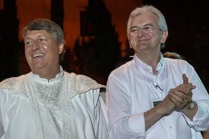 Flavio Togni e Antonio Giarola, i due demiurghi dello spettacolo andato in scena a Verona (tutte le foto del servizio sono di Laura Santelli)