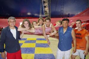 Da sinistra, Darix Martini, Angela, Nicole, Yuri, Maicol, Kimberly Martini, Rene Rodogell e Adriano De Quadra (tutte le foto del servizio sono di Ahara Bischoff)