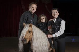 Fredy Knie con i nipotini Ivan Junior e Chanel