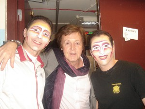 Roni e Stiv con  Paul McCartney