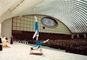 L'esibizione davanti a Benedetto XVI