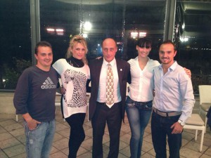 Il presidente Buccioni con Willy,Tayron, Sharon e Stacey