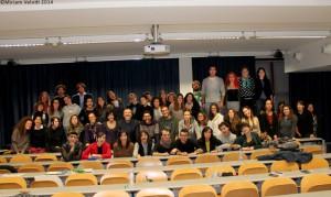 Il gruppo di studenti che ha partecipato alle giornate sull'arte circense (le fotografie sono di Miriam Velotti)