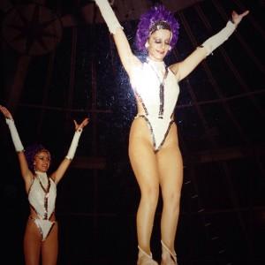 Denise Errani da giovane nel circo di famiglia