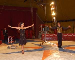 Il nuovo inizio in circo dei Ferrandino vedeva Marina partner di Maurizio Zavatta e Michele presentatore