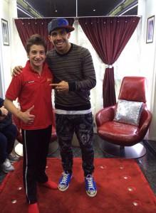 Carlos Tevez con Maycol Martini