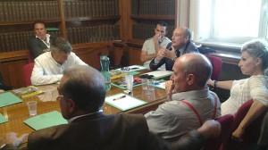 Alcuni dei presenti al consiglio direttivo Enc che si è tenuto ieri a Roma
