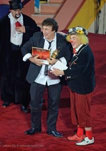 David Larible ha ricevuto il premio da Popov