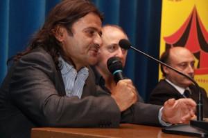 Marco Zita con Divier Togni e Antonio Buccioni nel corso di un incontro all'Agis