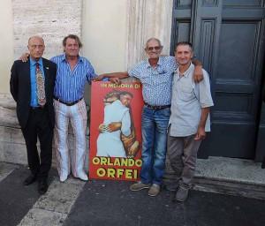Da destra: Alberto Vassallo, Walter Vassallo, Angelo D'Amico e Antonio Buccioni