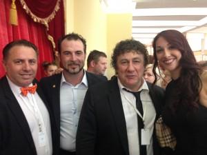 Clio Togni e David Larible sul podio di Master 2015, insieme a Fabio Montico (in giuria) e Bruno Meggiolaro